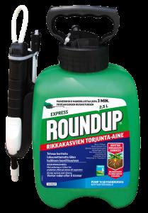 Roundup Express 2,5L pumppukanisteri