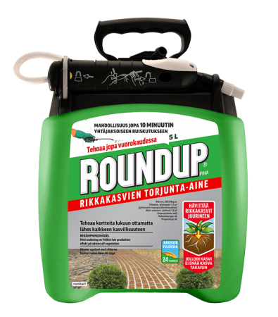 Roundup Piha 5L pumppukanisteri